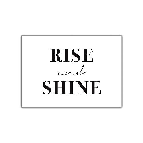 Schlafzimmer Plakat Rise And Shine Din A4 Guten Morgen