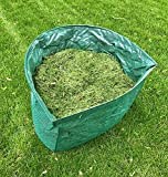 RTWAY Garden Bag Reusable Leaf Bag Large Yard Lawn Gardening Waste Bag Dustpan-Type Collapsible Heavy Duty Garden Debris Container, 53 Gallon, 1 Pack