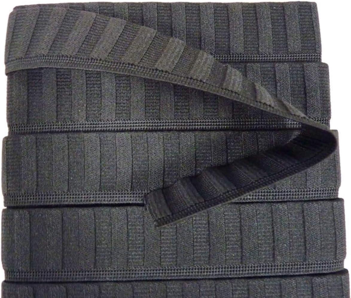 Thometzki Elastique 30 mm de Large 5 m 3 Couleurs au Choix Blanc Noir