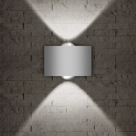 brand new 11d00 6e83a LED Exterior Wall Lighting Fixtures,INHDBOX Interior Wall Sconces Lamp  Waterproof Up Down Light White Outdoor/Indoor Decor 85-265V 2W-3