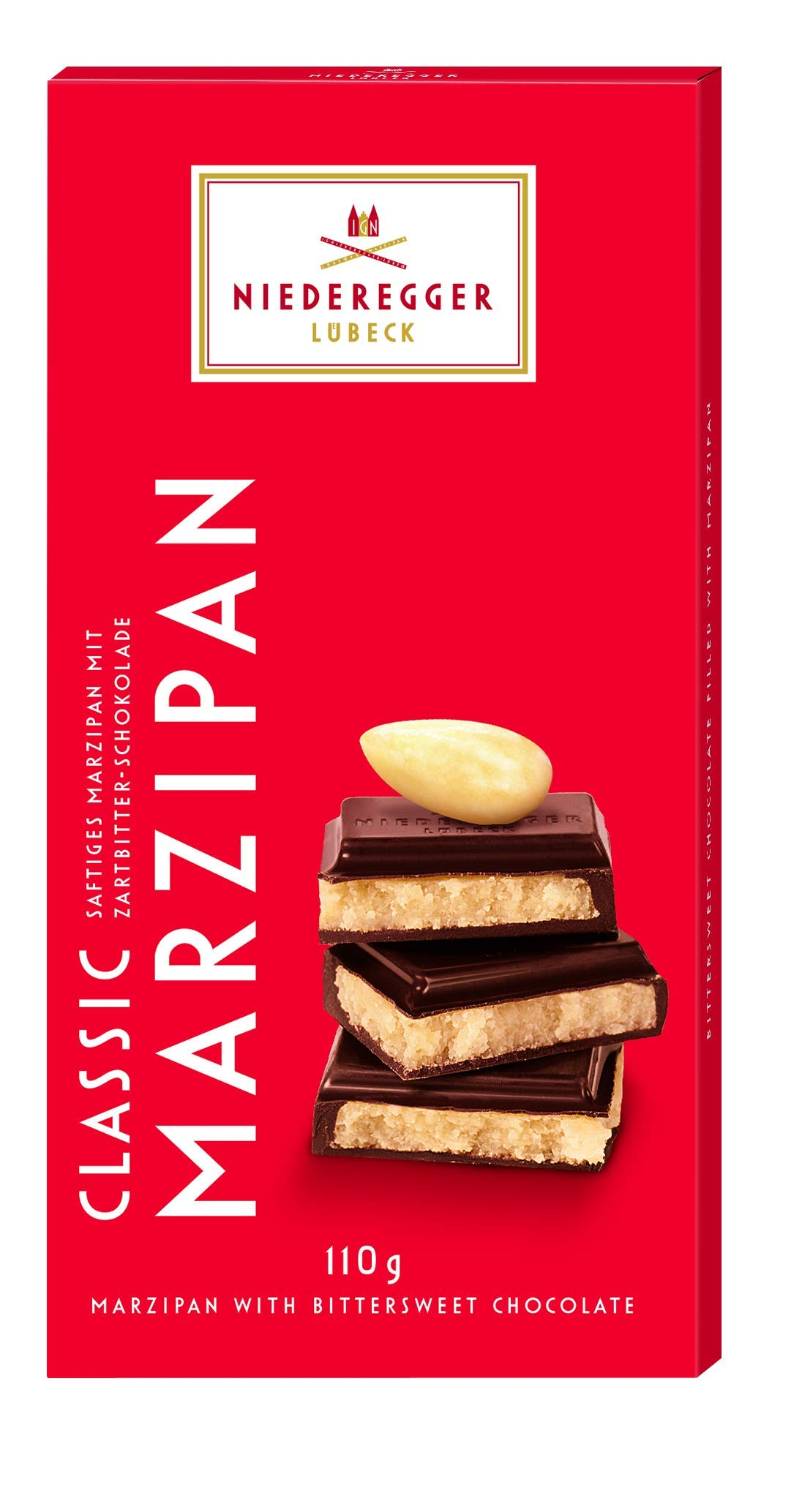 Niederegger Marzipan Classic Bar - BSW, 3.88 Ounce (Pack of 10) by Niederegger