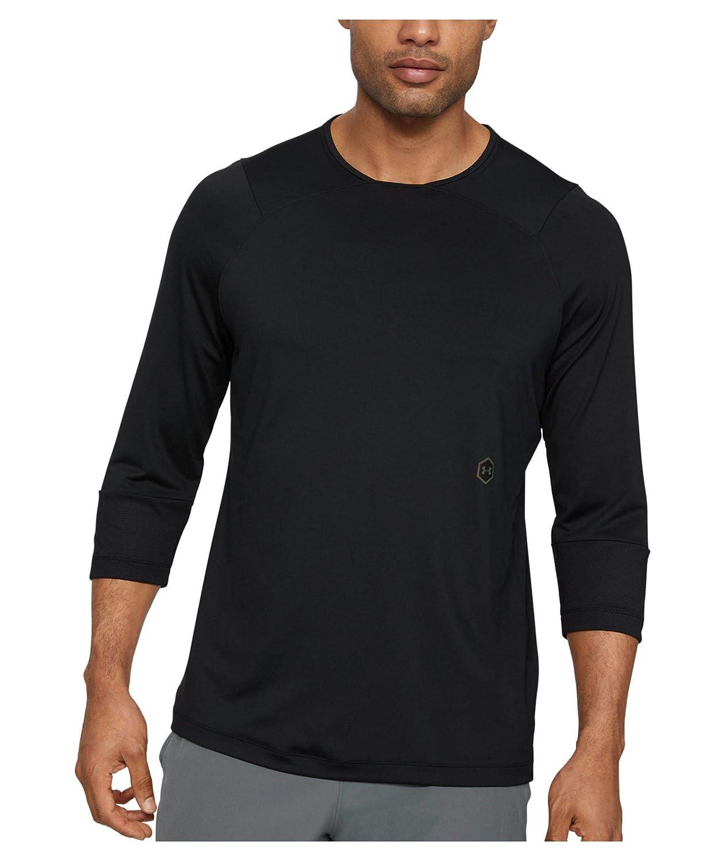 T-shirt confortable pour hommes avec technologie Rush Under Armour UA Rush T-shirt manches 3//4 T-shirt de sport respirant /à la coupe moulante