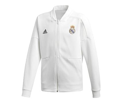 adidas Chaqueta Real Madrid ZNE KY 2018-2019 Niño Core white-Black  Amazon 80312a87bf859