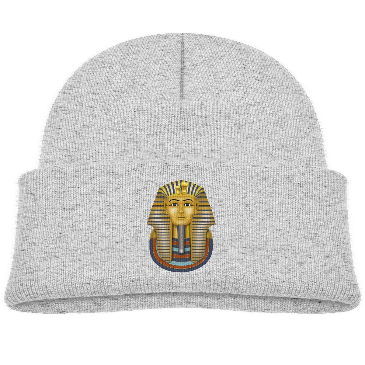 Daibing Kids Knitted Beanies Hat Egyptian Tutankhamon King TUT Winter Hat Knitted Skull Cap