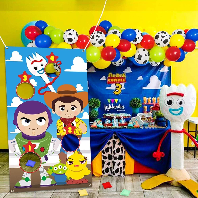 gro/ße Stoff Banner Indoor Outdoor Werfen Karneval Spiele f/ür Geburtstag Party-Dekoration beg/ünstigt liefert Zubeh/ör Party-Spiele f/ür Kinder BeYumi Toy Wurfspiele mit 4 Bohnentaschen