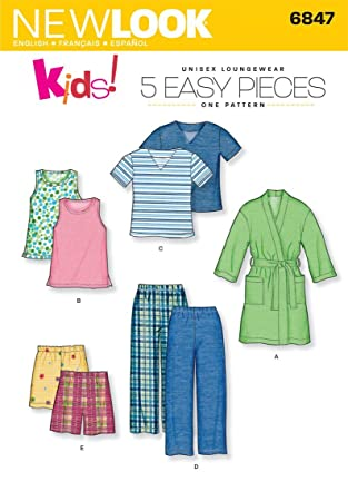 Image Unavailable. Image not available for. Color  New Look Sewing Pattern  6847 Child Sleepwear ... 8840bf3c1