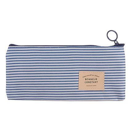 Longsw - Estuche para lápices de papelería, diseño de rayas ...
