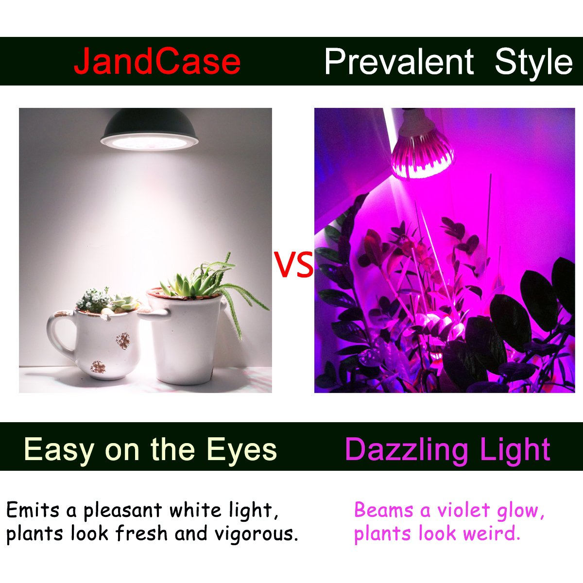 Jandcase Full Spectrum White Light Led Grow Light Bulb 20w Natural Plant Light For Greenhouse Gardening Grow Bulb For Indoor Hydroponic Plants E26