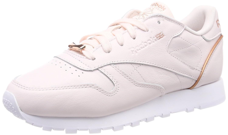 0398251dc09 Reebok Women s s Cl Lthr Hw Low-Top Sneakers Pale Pink Rose Gold  BS9880