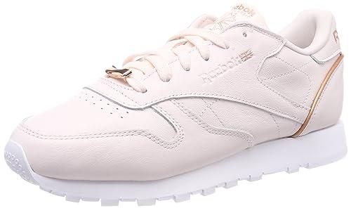 Reebok Cl LTHR Hw, Chaussures de Running Femme: