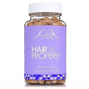 Amazon.com: Vitaminas para el cabello con colágeno y fórmula ...