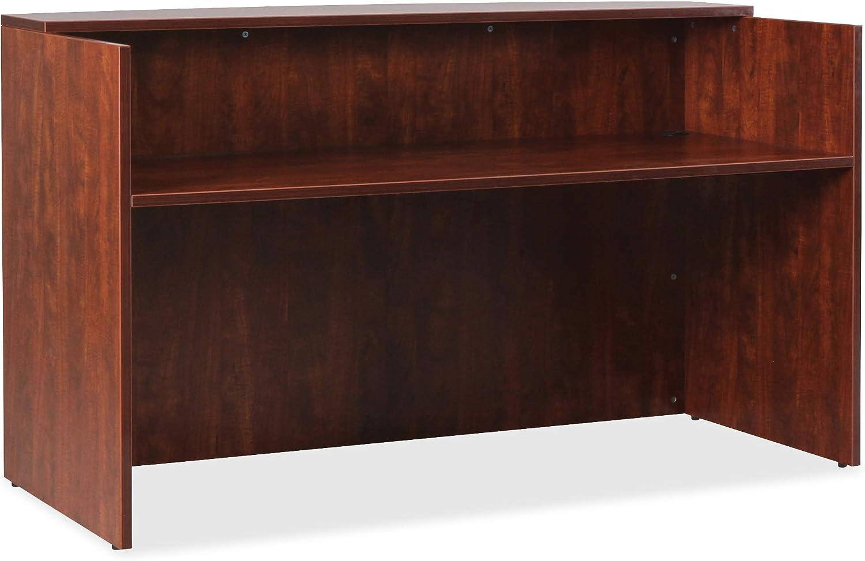 Lorell Essentials Reception Desk, Cherry: Furniture & Decor