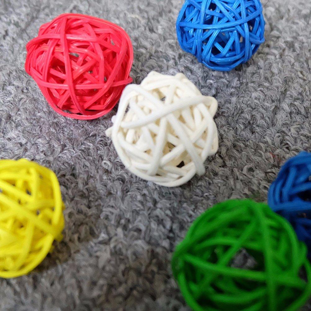 ROSENICE D/écoratives Balles Bois Brindille Rotin Osier Boule Maison Mariage D/écoration Jardin Suspendu Decor 50Pcs
