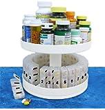Jobar International - Pill Organizer, 31 pill holders, Rotates 360 degrees