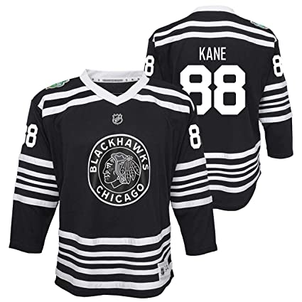 Genuine Stuff Chicago Blackhawks Youth Patrick Kane 2019 Winter Classic  Replica Jersey - Black  88 637714184