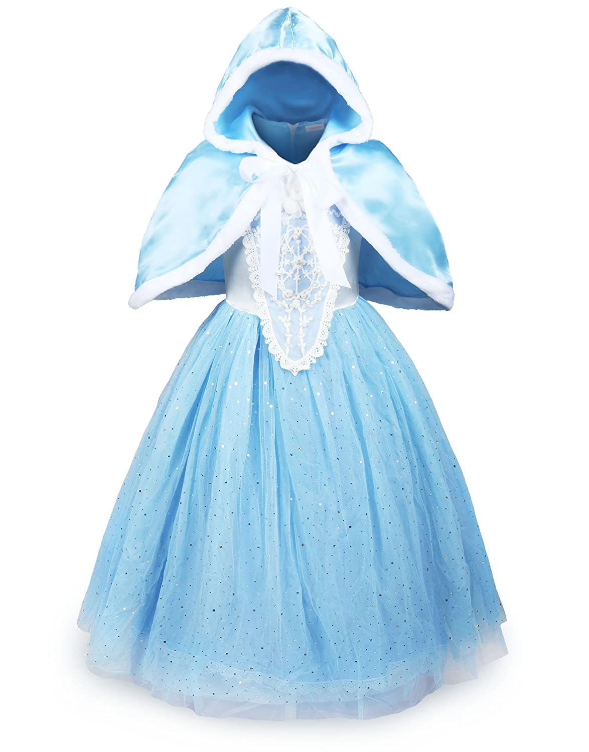 ReliBeauty Girls Sparkle Sequin Princess Dress Costume