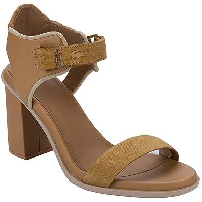 3af9369119 Lacoste Sandales Hautes Lonelle Marron Femme: Amazon.fr: Chaussures ...