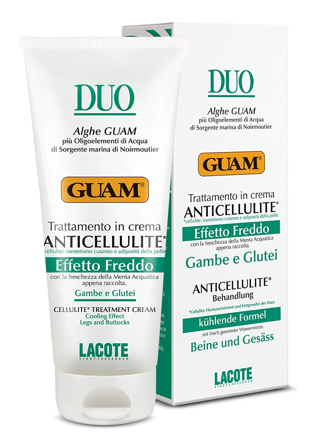 GUAM DUO Anticellulite Cream That Fights Fat Deposits Under The Skin With Cooling Effect Legs And Buttocks 200Ml | By Guam Beauty