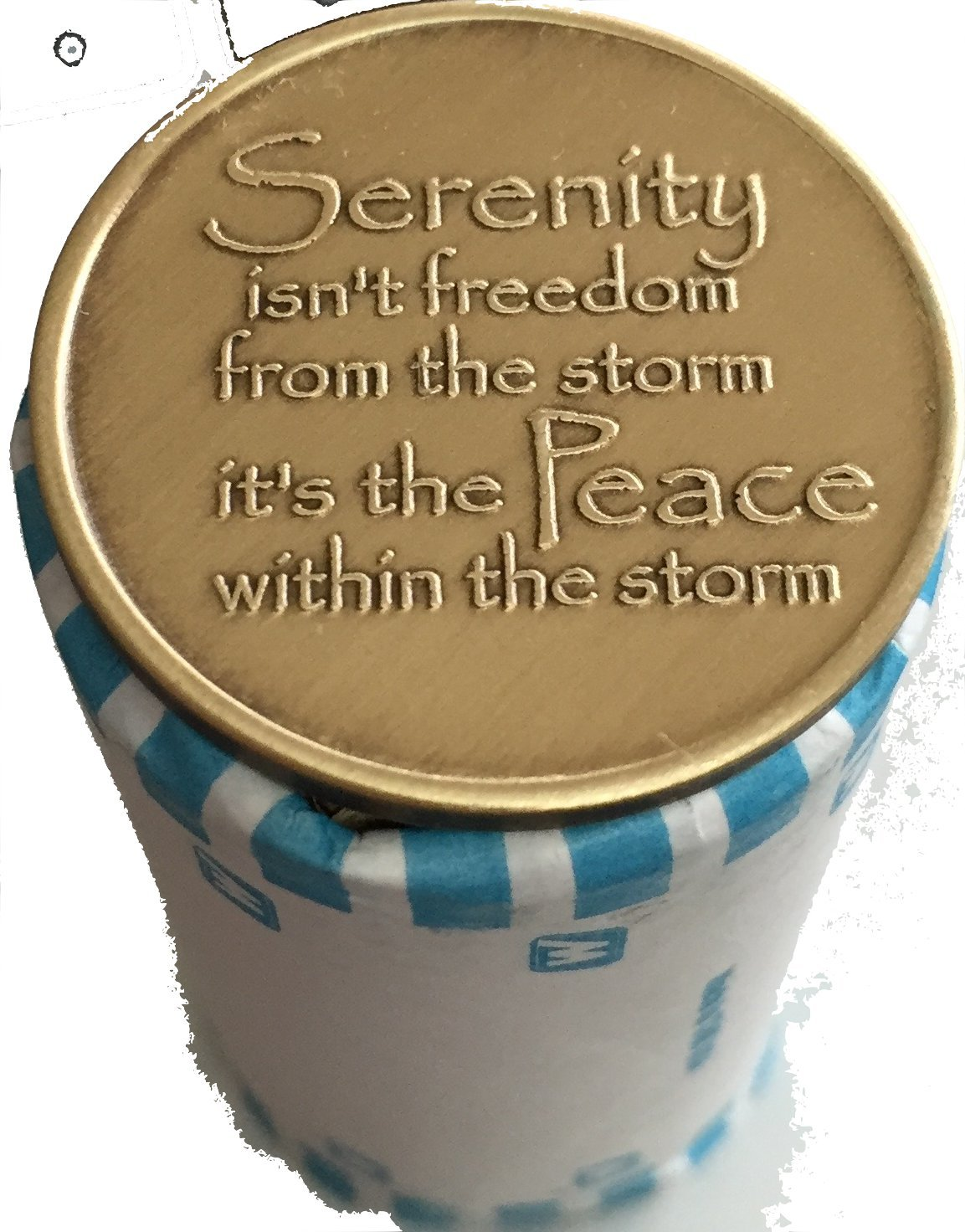 Bulk Lot of 25 Serenity Lake Peace Within The Storm Bronze Medallions Chip Wholesale Set by RecoveryChip (Image #2)