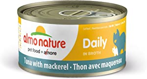 Almo Nature HQS Daily Grain Free High Protein Wet Canned Cat Food (Pack of 24 x 2.47 oz/70g Cans)
