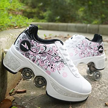 premium selection a9f29 adb3a Beauty leader Multifunctional deformation shoes Quad Skate ...
