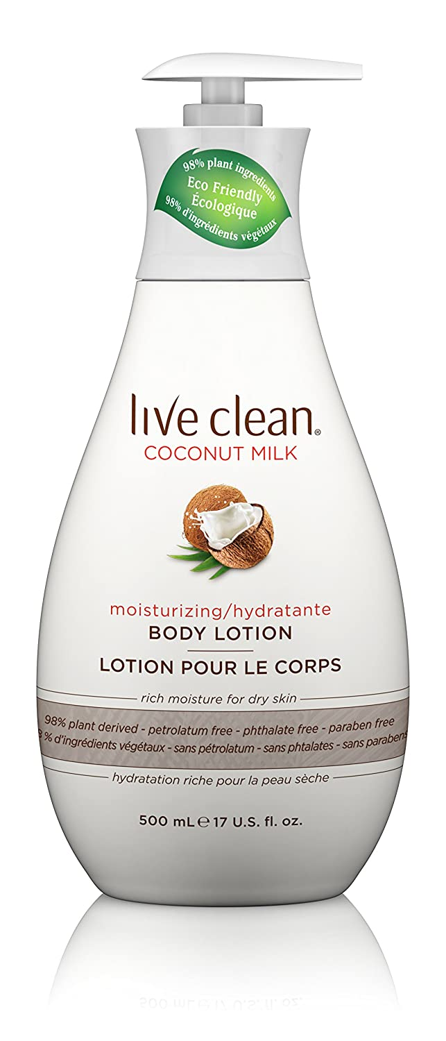 Live Clean Coconut Milk Body Lotion, 500-Milliliter