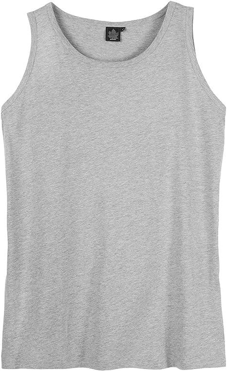 Ahorn XXL Camiseta gris clara sin mangas: Amazon.es: Ropa y accesorios