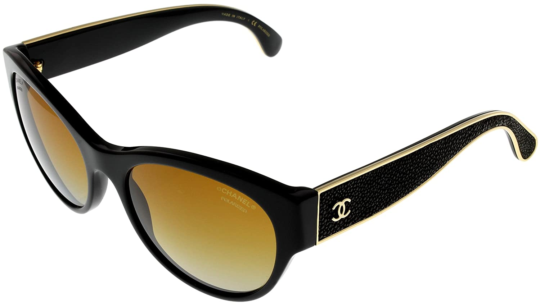 9d334e4d31e Amazon.com  Chanel Sunglasses Women Polarized Black CH5273Q C622S9  Clothing