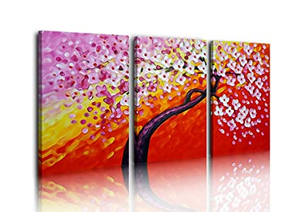 Amazon Com Lp Life Art Large Canvas Wall Art Money Tree Red Modern