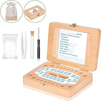 Caja de dientes para bebés – Uiter caja de madera rectangular para ...