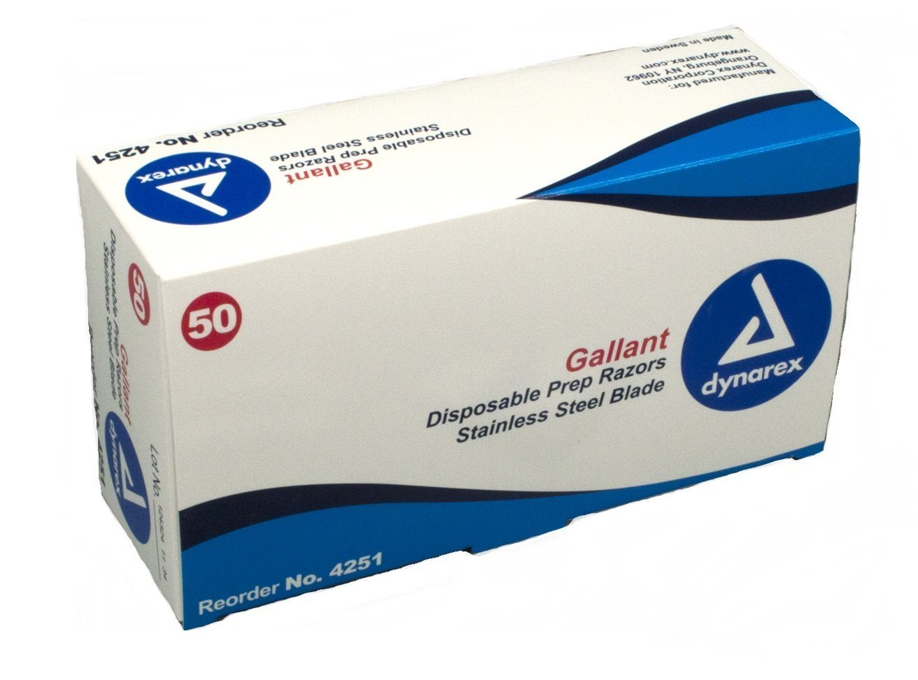 Disposable Gallant Prep Razor, Individually Foil-Packed, 50/bx Fieldtex Products No Model
