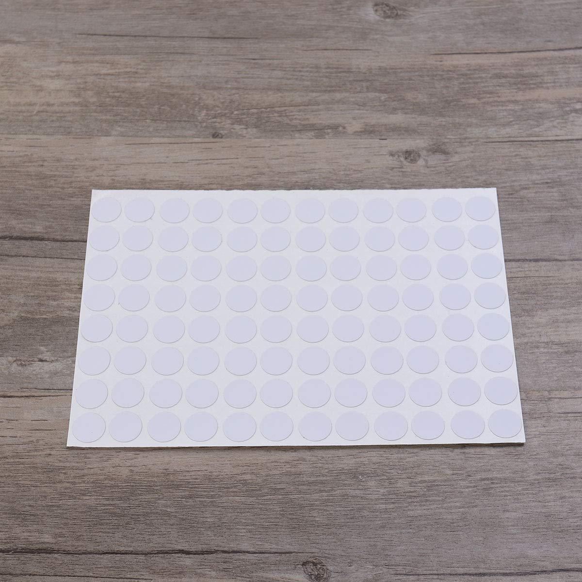 Sheet Cubre Las Etiquetas engomadas de los Casquillos para Las Etiquetas de los Muebles VORCOOL El Agujero Impermeable del Tornillo 96pcs