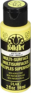 product image for FolkArt multisurface neon glow in the dark paint, 2 oz, Yellow