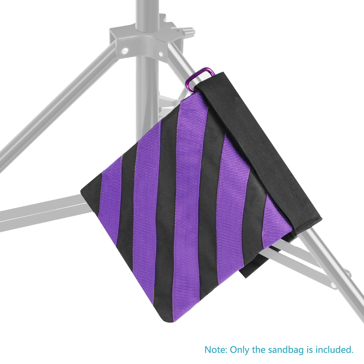 Boom Arms Neewer 4-Pack Empty Photographic Sandbag Studio Video Stage Film Sand Bag Saddlebag Tripods Purple//Black 9x10 inches//23x25 centimeters 20 pounds Load-bearing for Light Stands