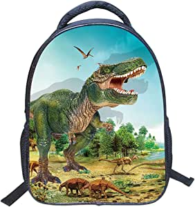 Jubang Mochila para Niños Mochila Escolar con Patrones de Dinosaurio Mochila Infantil para Escuela Primaria Mochilas Casual para Picnic Viaje Camping #4 tallla única