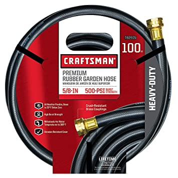 100 ft garden hose. craftsman premium rubber garden hose, 100ft. x 5/8. inch 100 ft hose