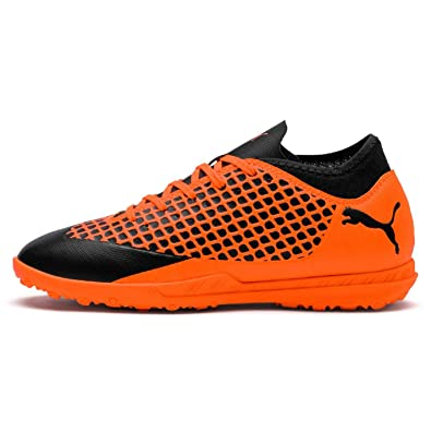 0e9923521ee7 Image Unavailable. Image not available for. Color  Puma Future 2.4 Astro  Turf Football Trainers Juniors Soccer Shoes Sneakers Orange Black ...