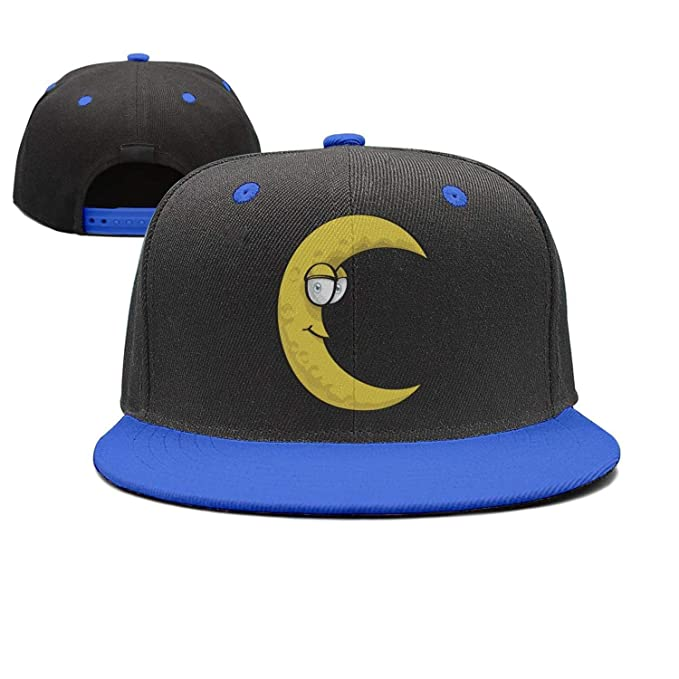 Amazon.com  ASWEQ Yellow Funny Moon Snapback Hats Women Baseball ... 194b65e3ab20