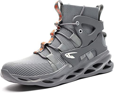 Mens ESD Steel Toe Safety Shoes Work Boots Indestructible Sports Hiking Sneakers