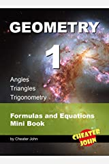 Geometry 1 - Angles, Triangles, Trigonometry: Formulas and Equations Mini Book Kindle Edition