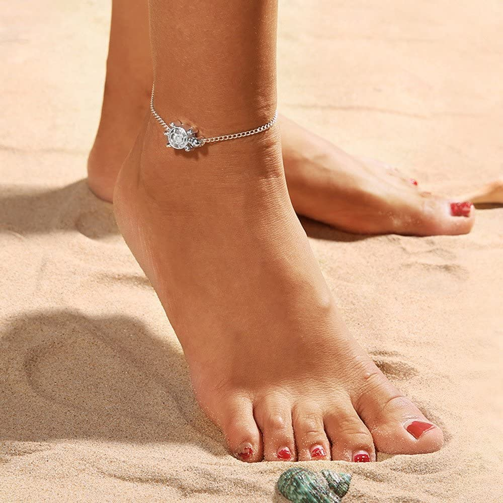 sandalias de pie descalzado tobillera salvaje joyer/ía para playa Tobillera tallada en forma de l/ágrima L/_shop