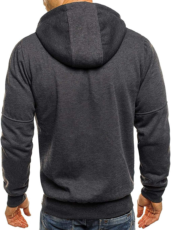 Mens Midweight Zip Front Hooded Sweatshirt Giuoke Hoodies for Men