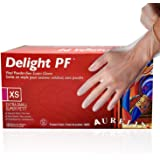 Aurelia - Delight PF Clear - Single Use Vinyl Gloves-Latex and Powder Free - Hypoallergenic - Smooth Texture - Ambidextrous -