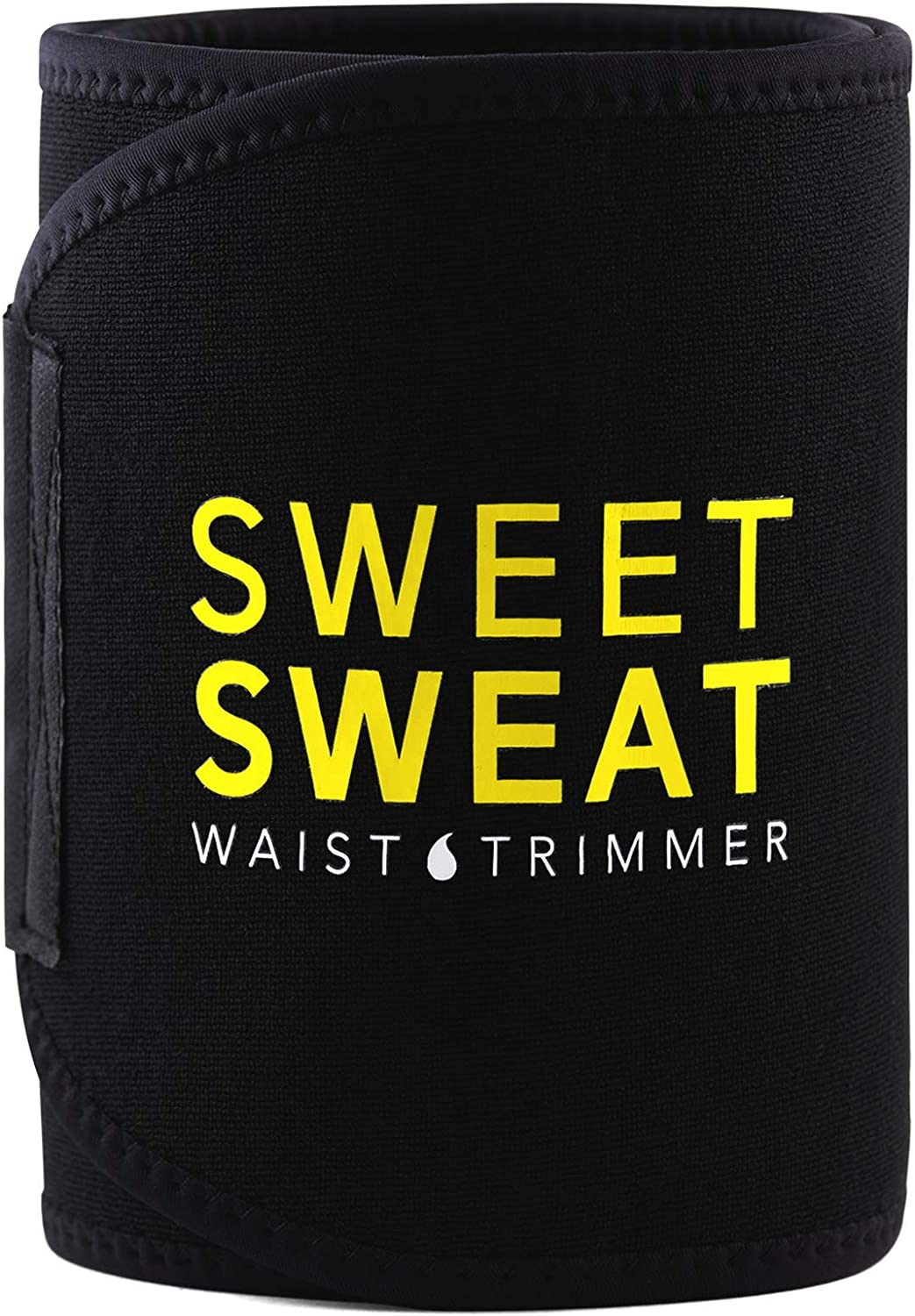 Sports Research Sweet Sweat Premium Waist Trimmer (Yellow Logo) for Men & Women. Includes Free Sample of Sweet Sweat Gel!: Sports & Outdoors