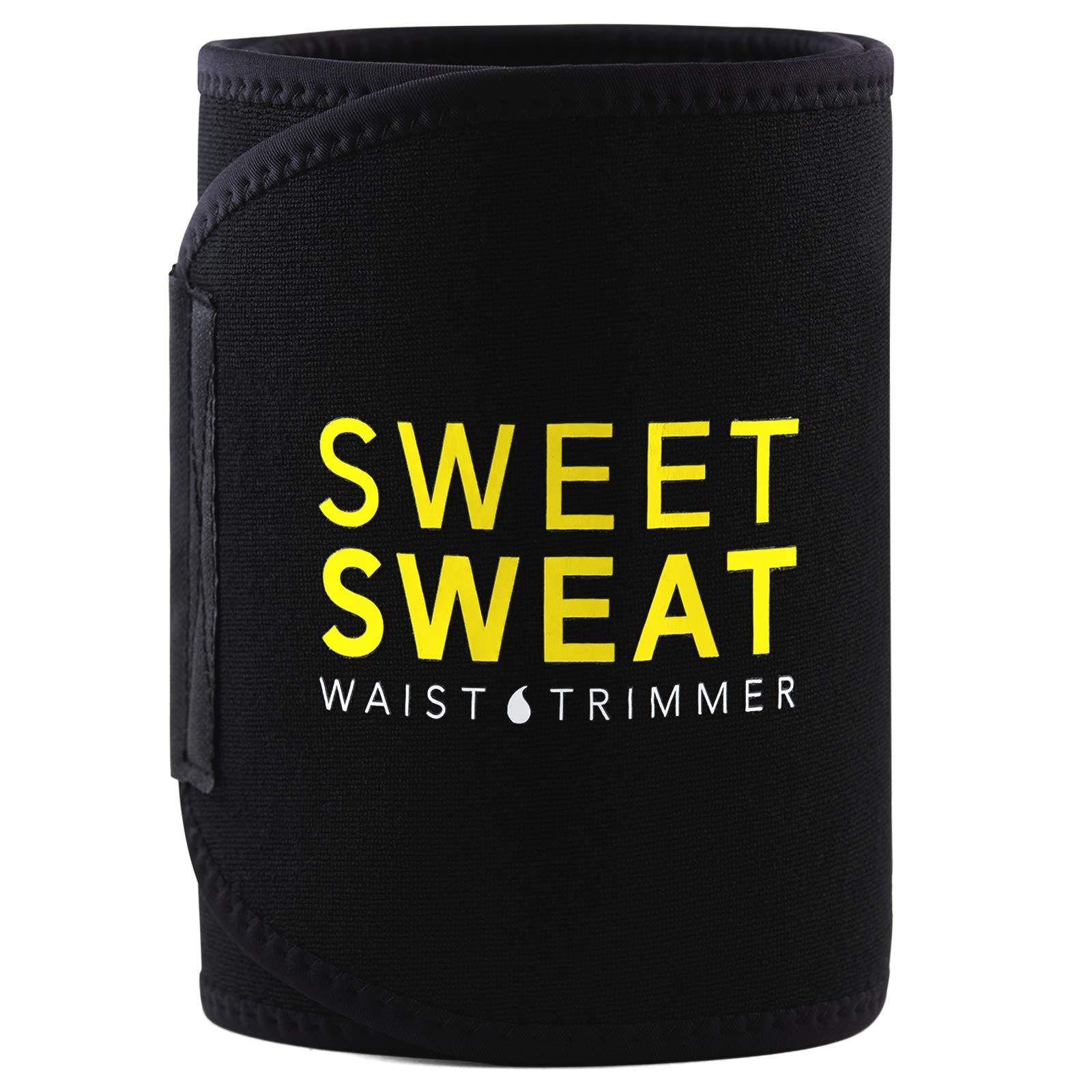 Sweet Sweat Waist Trimmer with Sample of Sweet Sweat Workout Enhancer gel, Medium