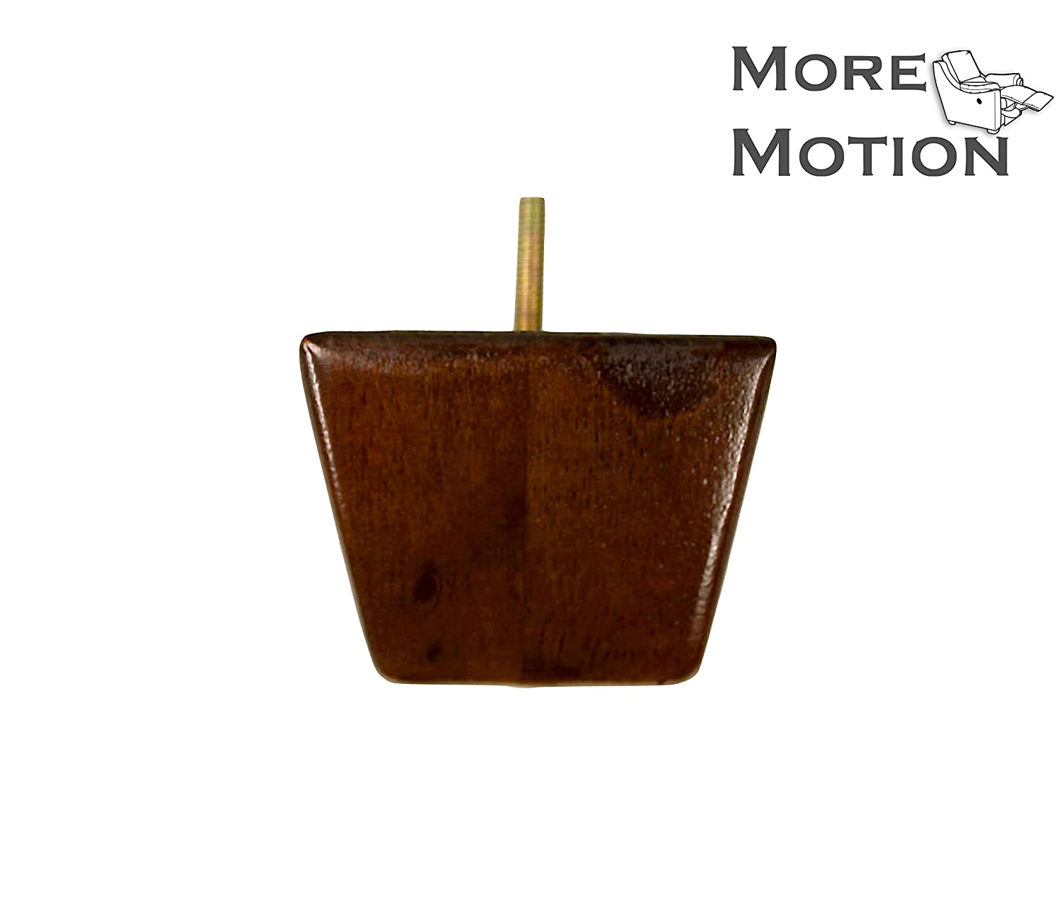"MoreMotion 2.75"" Walnut Finish Square Tapered Wooden Legs, Set of 4"