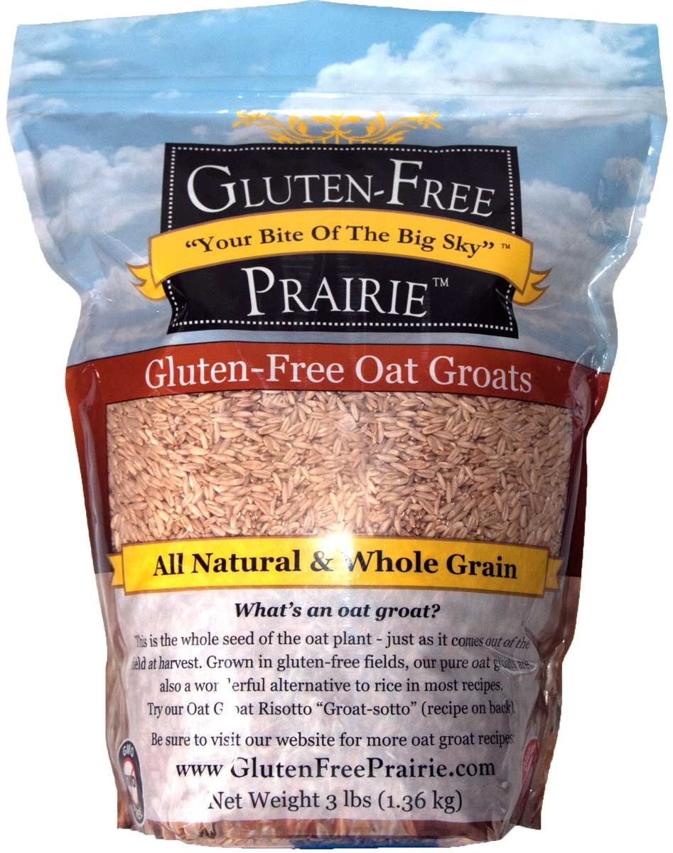 Gluten Free Prairie Oat Groats 3 Pound (Pack of 1), Gluten Free, Whole Grain, Raw & Sproutable, Rice Substitute, Vegan, Low Glycemic, High in Protein, Fiber, and Vitamin B