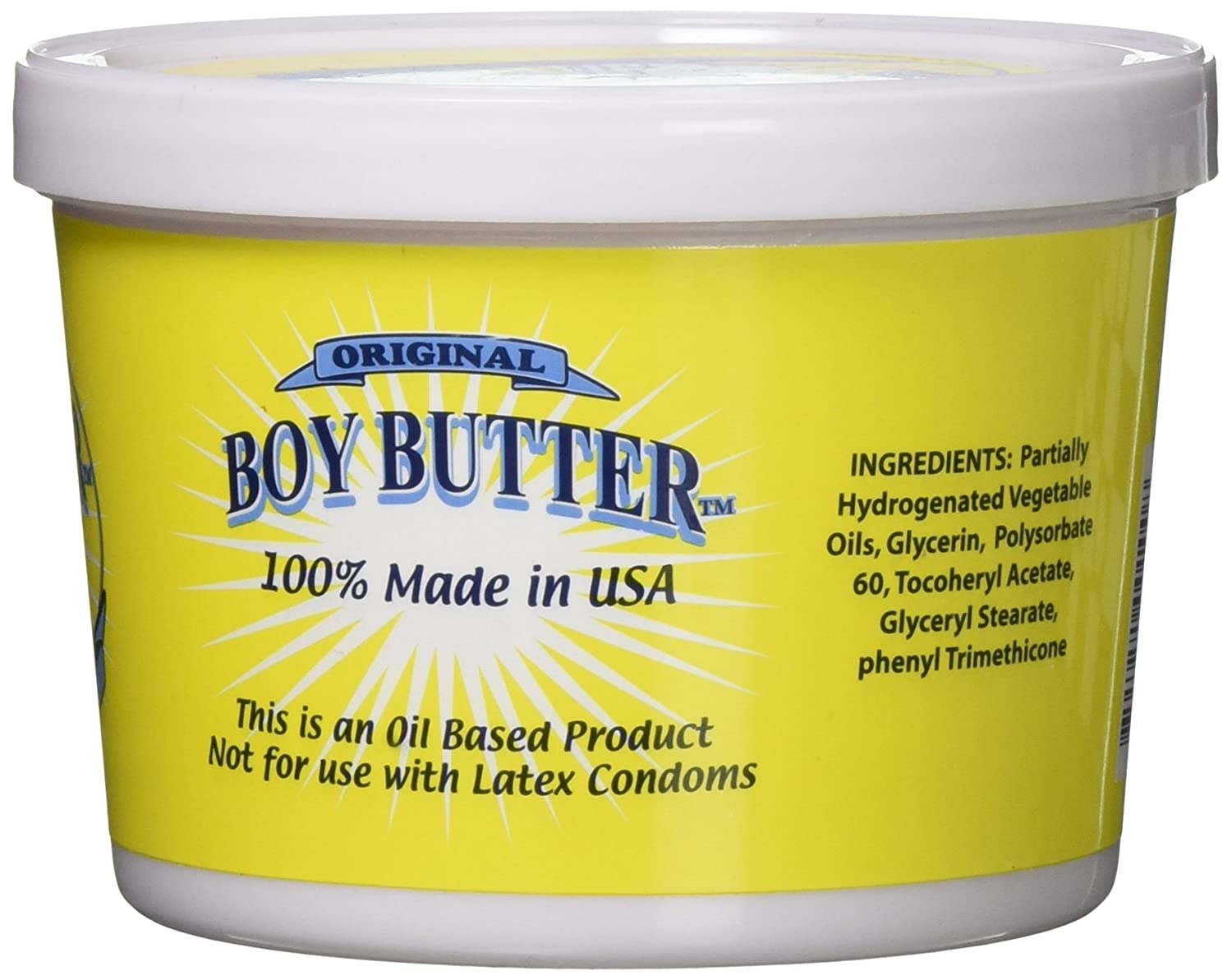 Amazon.com: Boy Butter 16oz Personal Lubricant   Natural Coconut Oil &  Organic Silicone   Non Staining, Washable & Slick Lube for Adult Men, Women  & Couples ...