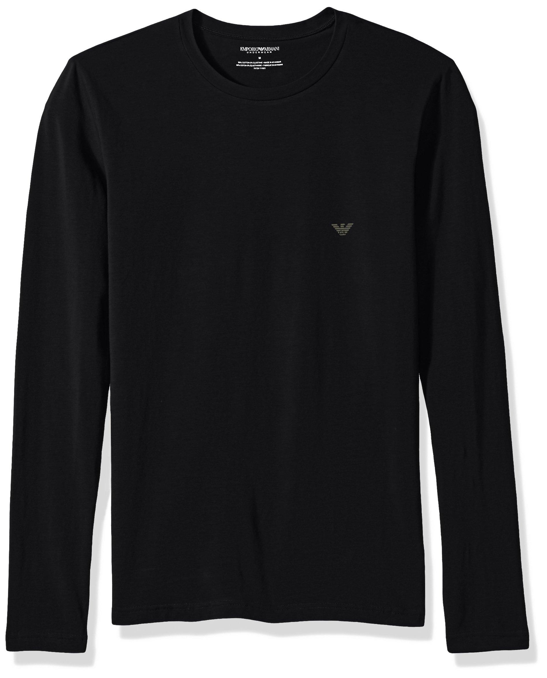 Emporio Armani Men's The Big Eagle L/s Crew T-Shirt, Black, M by Emporio Armani