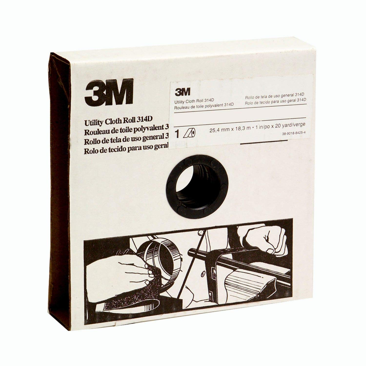 3M Utility Cloth Roll 314D 2 in x 50 yd P240 J-weight